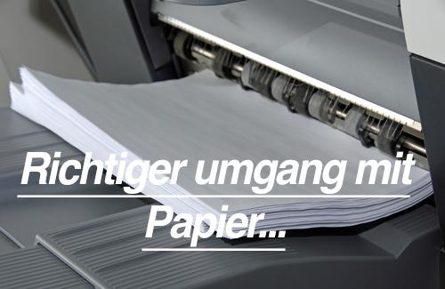 Papierlagerung